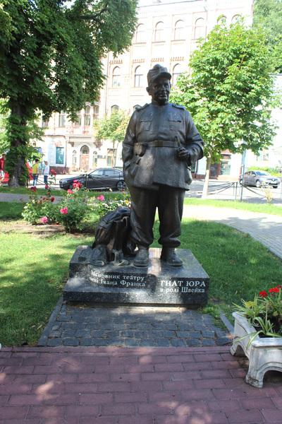 Памятник основателю театра Гнату Юре