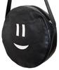 """круглая сумка  """"Смайлик """" тоже кожа."""