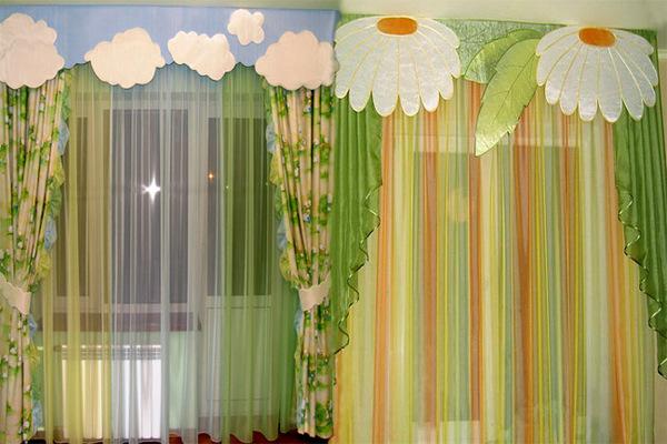 Интересные идеи оформления окна в детской комнате