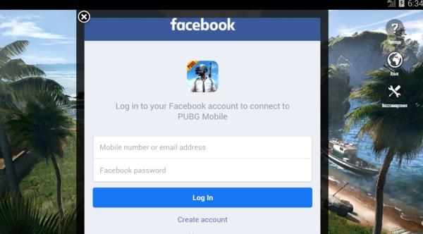 Заходим в игру через Facebook